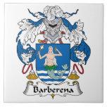 Escudo de la familia de Barberena Azulejo Cerámica