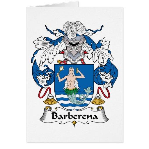 Escudo de la familia de Barberena Felicitaciones