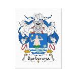 Escudo de la familia de Barberena Lona Envuelta Para Galerias