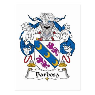 Escudo de la familia de Barbosa Postales
