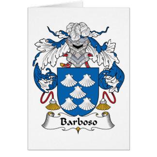 Escudo de la familia de Barboso Tarjeta De Felicitación