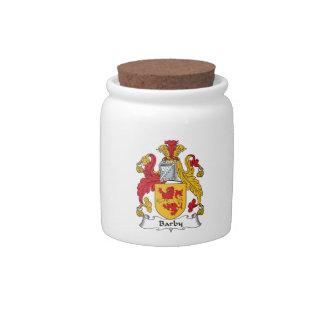 Escudo de la familia de Barby Tarro De Cerámica Para Dulces