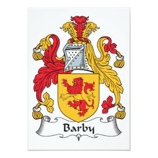 """Escudo de la familia de Barby Invitación 5"""" X 7"""""""