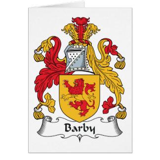 Escudo de la familia de Barby Tarjeta De Felicitación