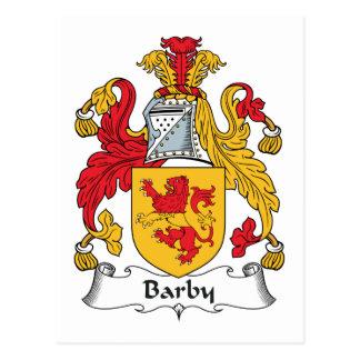 Escudo de la familia de Barby Tarjeta Postal