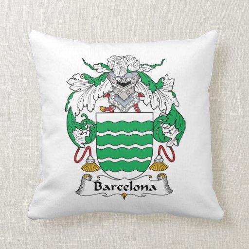 Escudo de la familia de Barcelona Cojín
