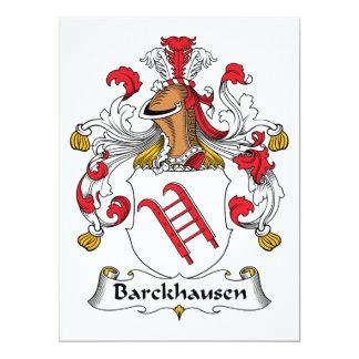 """Escudo de la familia de Barckhausen Invitación 6.5"""" X 8.75"""""""