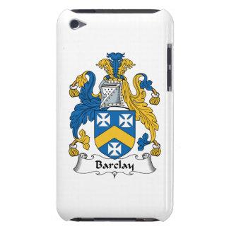 Escudo de la familia de Barclay Case-Mate iPod Touch Cárcasas