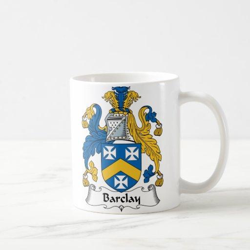 Escudo de la familia de Barclay Taza Clásica