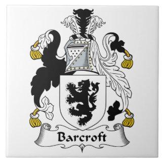 Escudo de la familia de Barcroft Azulejo Cerámica