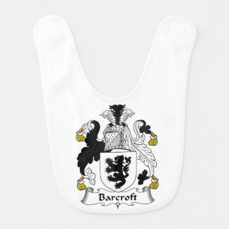 Escudo de la familia de Barcroft Baberos Para Bebé