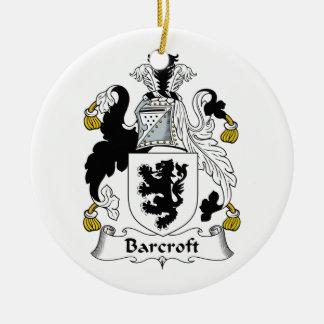 Escudo de la familia de Barcroft Adorno De Navidad