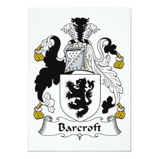 Escudo de la familia de Barcroft Invitación 12,7 X 17,8 Cm