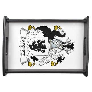Escudo de la familia de Barcroft Bandejas