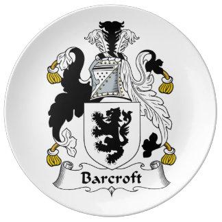 Escudo de la familia de Barcroft Platos De Cerámica