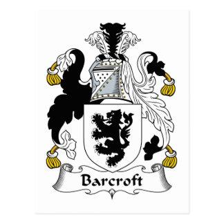 Escudo de la familia de Barcroft Postal