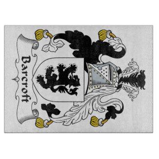 Escudo de la familia de Barcroft Tabla De Cortar