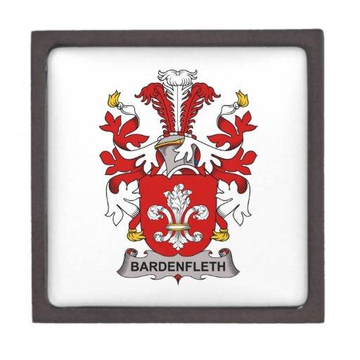 Escudo de la familia de Bardenfleth Cajas De Regalo De Calidad