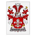Escudo de la familia de Bardenfleth Felicitacion