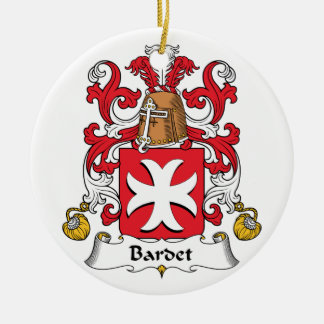 Escudo de la familia de Bardet Adorno Redondo De Cerámica
