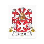 Escudo de la familia de Bardet Lienzo Envuelto Para Galerías