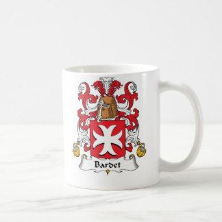 Escudo de la familia de Bardet Tazas De Café