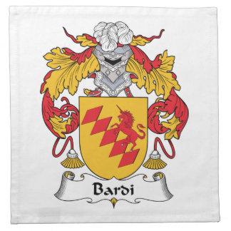 Escudo de la familia de Bardi Servilletas Imprimidas