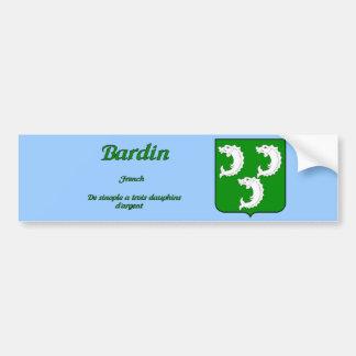Escudo de la familia de Bardin y pegatina de la de Etiqueta De Parachoque