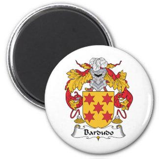 Escudo de la familia de Bardudo Imán Redondo 5 Cm