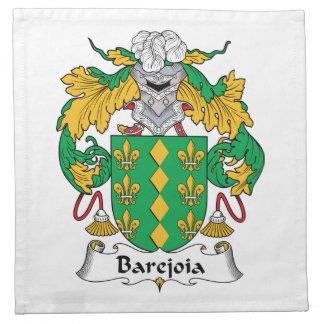Escudo de la familia de Barejoia Servilleta Imprimida