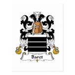 Escudo de la familia de Baret Tarjetas Postales