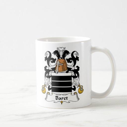 Escudo de la familia de Baret Taza De Café