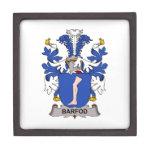 Escudo de la familia de Barfod Cajas De Recuerdo De Calidad