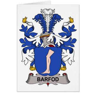 Escudo de la familia de Barfod Tarjeta De Felicitación