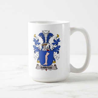 Escudo de la familia de Barfod Taza Básica Blanca