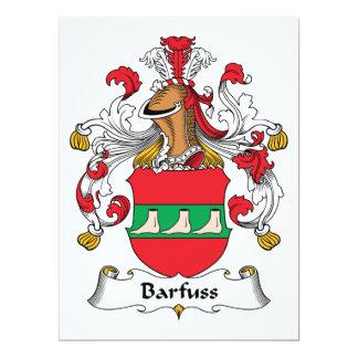 """Escudo de la familia de Barfuss Invitación 6.5"""" X 8.75"""""""
