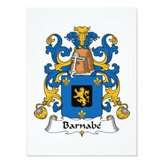 """Escudo de la familia de Barnabe Invitación 6.5"""" X 8.75"""""""