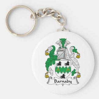 Escudo de la familia de Barnaby Llavero Personalizado