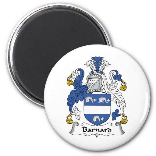 Escudo de la familia de Barnard Imán Redondo 5 Cm