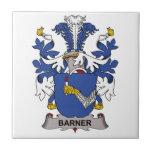 Escudo de la familia de Barner Azulejo Ceramica