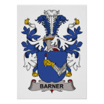 Escudo de la familia de Barner Poster