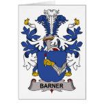Escudo de la familia de Barner Tarjetón