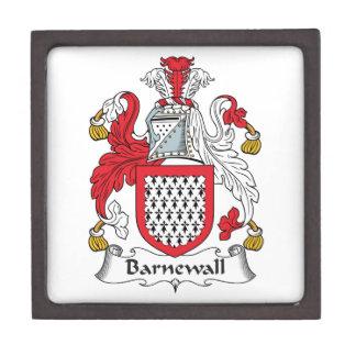 Escudo de la familia de Barnewall Caja De Recuerdo De Calidad