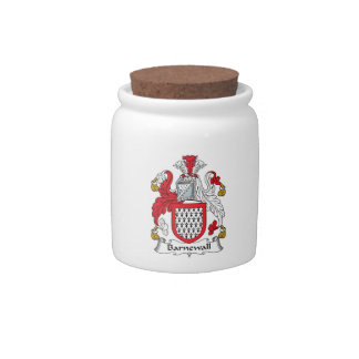 Escudo de la familia de Barnewall Jarra Para Caramelo