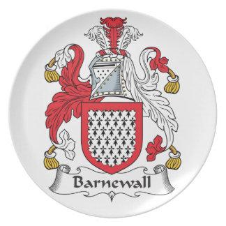 Escudo de la familia de Barnewall Platos