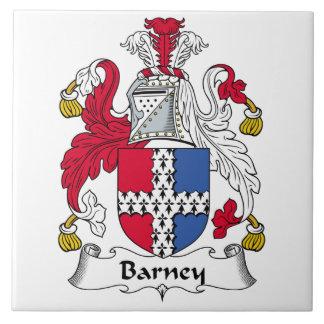 Escudo de la familia de Barney Azulejo Cuadrado Grande