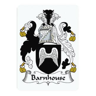 Escudo de la familia de Barnhouse Invitación 12,7 X 17,8 Cm
