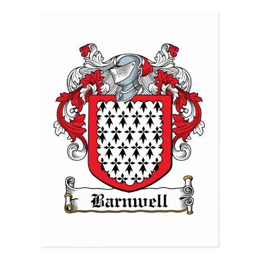 Escudo de la familia de Barnwell Tarjeta Postal