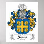 Escudo de la familia de Barone Poster