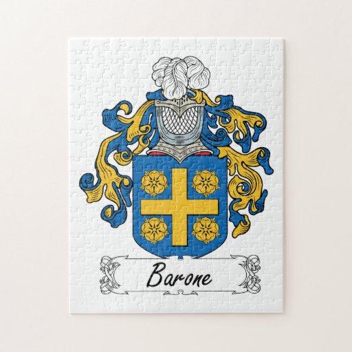 Escudo de la familia de Barone Rompecabezas Con Fotos